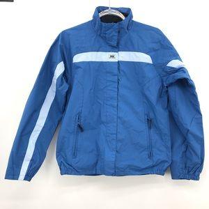 Helly Hansen M Blue Jacket Zipper collar pocket